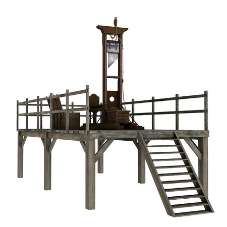 guillotine: gibbet Stock Photo