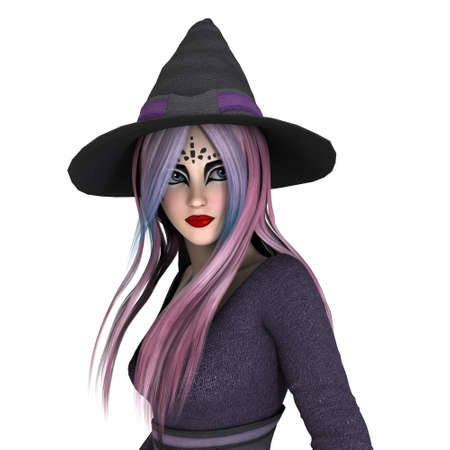 3d witch: 3d witch Stock Photo