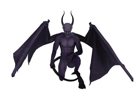 daemon: monster on white
