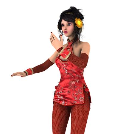 qipao: Kung fu girl