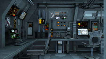 control room: space station