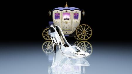 glass shoes Stockfoto