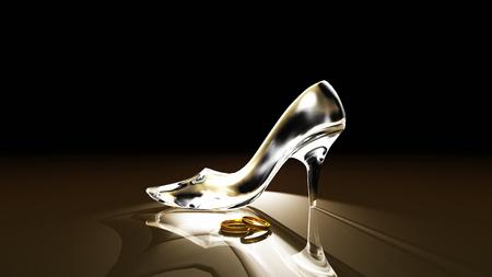glass shoes Foto de archivo