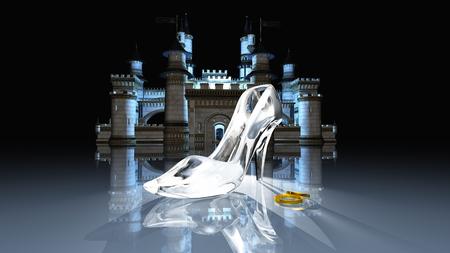 Cinderella castle Stock Photo