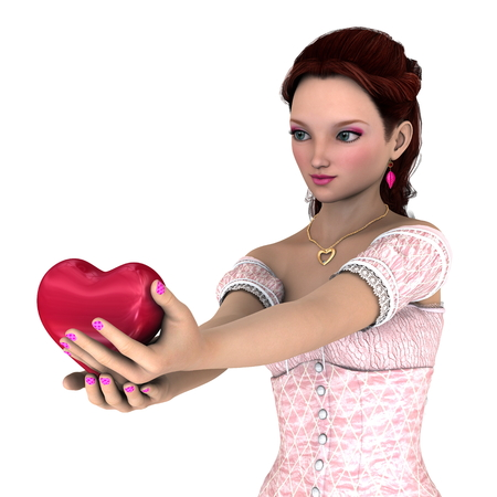 st  valentin: young woman