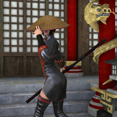 ascetic: Kung fu girl