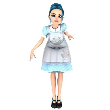 animated women: maid