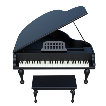 grand piano Banque d'images