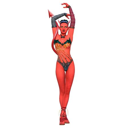 devil woman Stock Photo