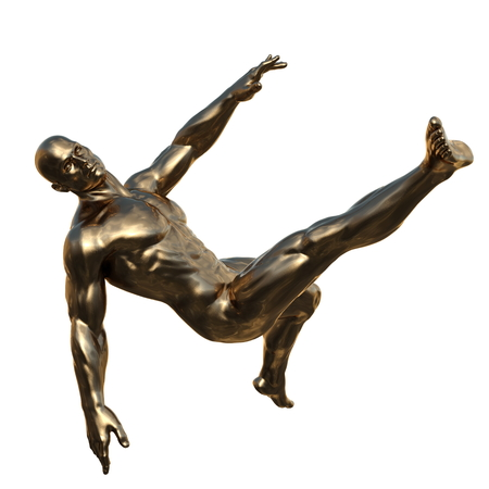 Sculpture of the man 版權商用圖片