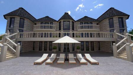 gorgeousness: mansion Stock Photo