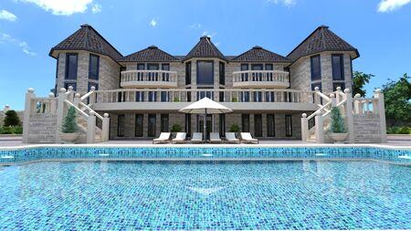 mansion Stockfoto