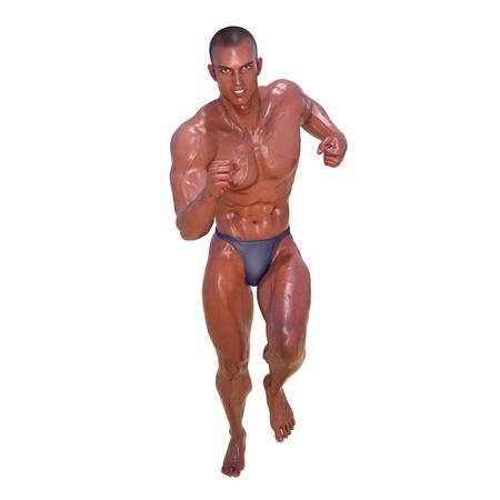 hombre deportista: Generador de cuerpo Foto de archivo