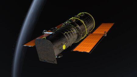 manmade: man-made satellite Stock Photo