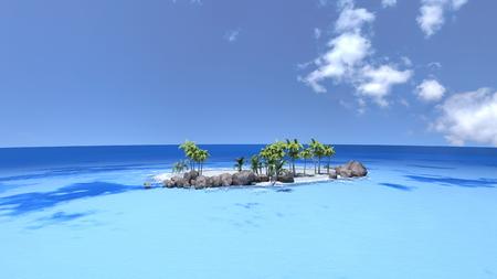 uninhabited: uninhabited island