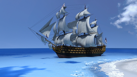 sailing ship: sailing boat