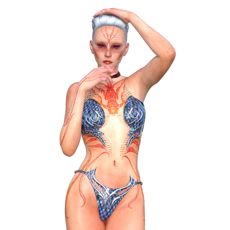 body painting: body painting woman