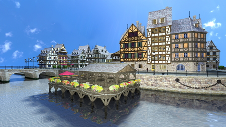 waterside: waterside cityscape