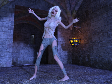foreign country: female zombie