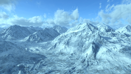 snowy mountains: snowy mountains