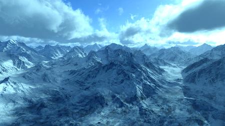 the snowy mountains: snowy mountains