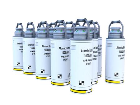atomic battery Stock Photo