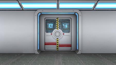 room door: control room door