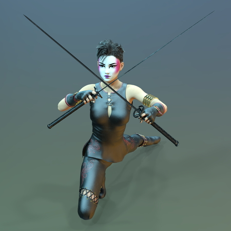 fencer: esgrimista femenina