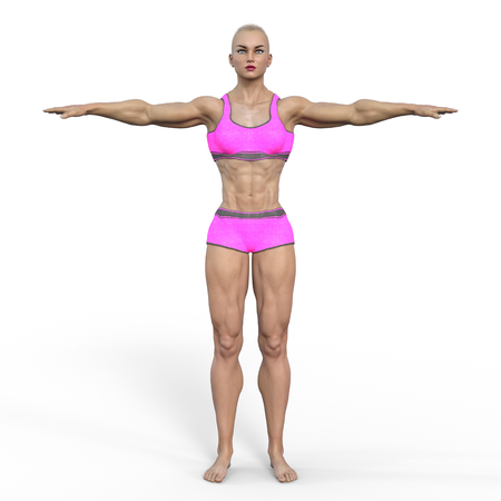 female body builder 版權商用圖片