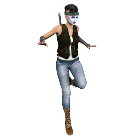esgrimista: female fencer