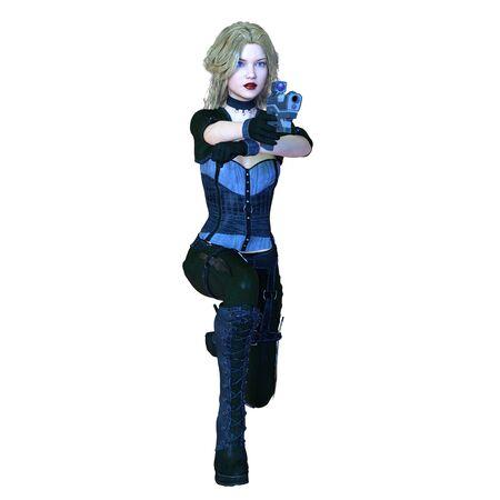 warrior pose: female warrior