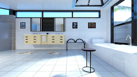 washstand: bathroom Stock Photo