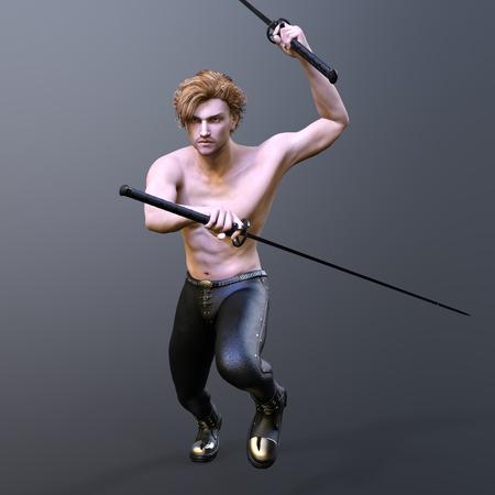 剣士 写真素材
