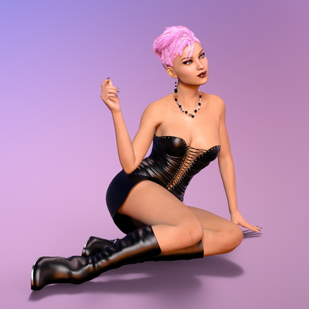 miniskirt: young woman