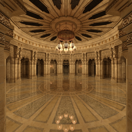 grand hall Zdjęcie Seryjne - 52449152