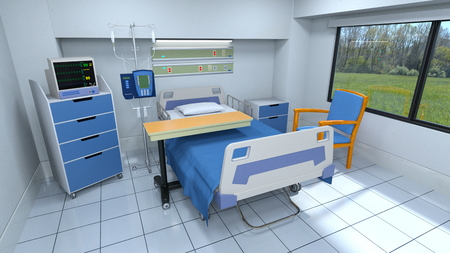private hospital: sickroom Stock Photo