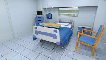 hospitalization: sickroom Stock Photo