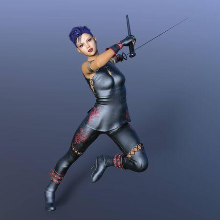 esgrimista: esgrimista femenina