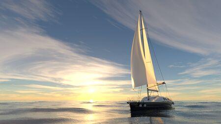 sail boat: yacht