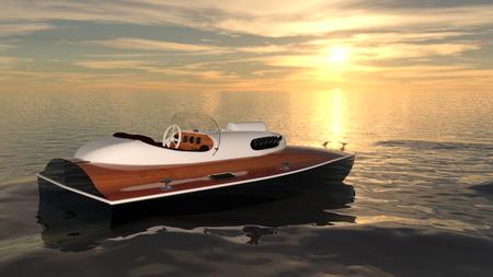 pleasure ship: motorboat