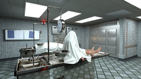 dissection: morgue Stock Photo