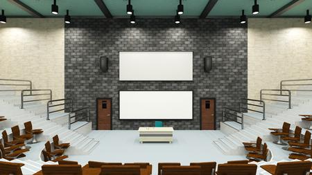 lecture theatre: convention hall Stock Photo