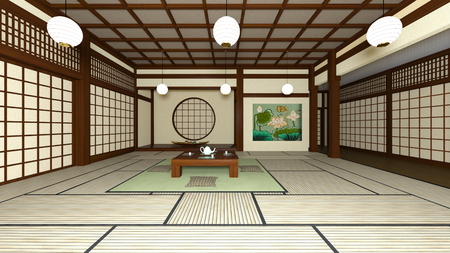 japanese style: Japanese style rooms Stock Photo