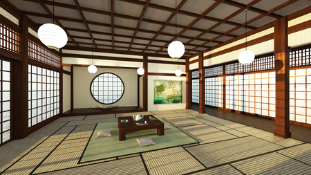 style: Japanese style rooms Stock Photo