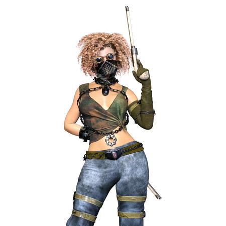 chemical warfare: female warrior