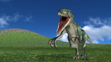 lizard in field: dinosaurio  Foto de archivo