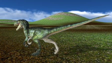 lizard in field: dinosaur Foto de archivo