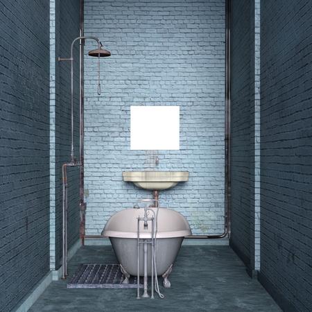 circumference: bathroom Stock Photo