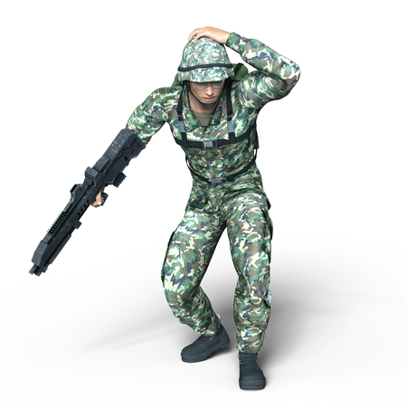 one armed: soldier
