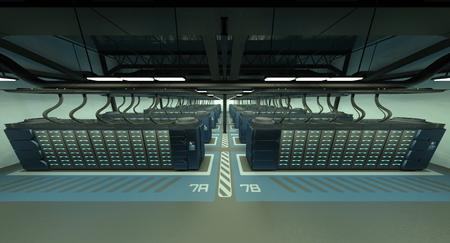 compiler: supercomputing center Stock Photo